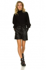 ba&sh |  Turtleneck sweater with balloon sleeves Raph | black  | Picture 5
