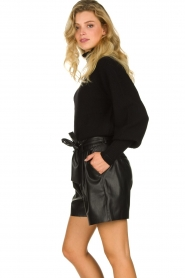 ba&sh |  Turtleneck sweater with balloon sleeves Raph | black  | Picture 6