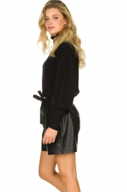 ba&sh |  Turtleneck sweater with balloon sleeves Raph | black  | Picture 4