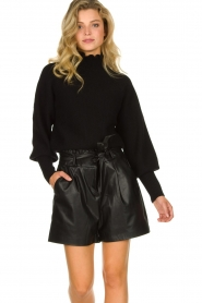 ba&sh |  Turtleneck sweater with balloon sleeves Raph | black  | Picture 2