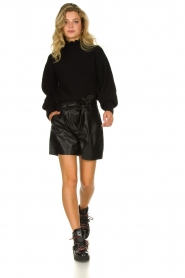 ba&sh |  Turtleneck sweater with balloon sleeves Raph | black  | Picture 3