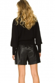 ba&sh |  Turtleneck sweater with balloon sleeves Raph | black  | Picture 7