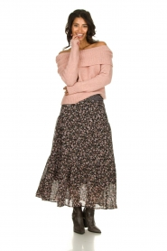 Knit-ted |  Knitted sweater with wide turtleneck Blanche | pink  | Picture 2