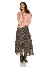 Knit-ted |  Knitted sweater with wide turtleneck Blanche | pink  | Picture 4