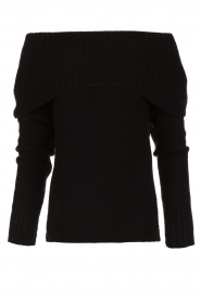 Knit-ted |  Knitted sweater with wide turtleneck Blanche | black  | Picture 1
