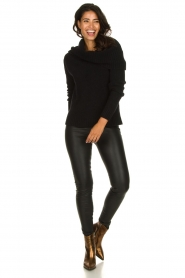 Knit-ted |  Turtleneck sweater Blanche | black  | Picture 3