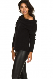 Knit-ted |  Turtleneck sweater Blanche | black  | Picture 4