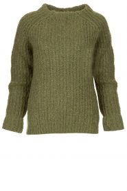 Knit-ted | Knitted sweater Bijou | groen  | Picture 1