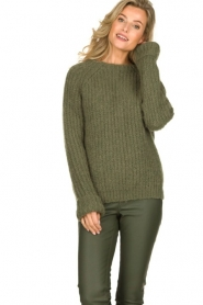 Knit-ted | Knitted sweater Bijou | groen  | Picture 2