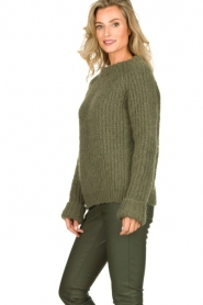 Knit-ted | Knitted sweater Bijou | groen  | Picture 3