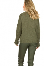 Knit-ted | Knitted sweater Bijou | groen  | Picture 4