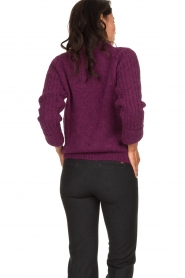 Knit-ted | Knitted sweater Bijou | purple  | Picture 5