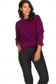 Knit-ted | Knitted sweater Bijou | purple  | Picture 2