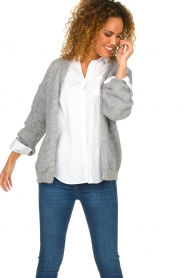 Knit-ted |  Knitted cardigan Bernelle | grey  | Picture 4