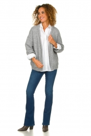 Knit-ted |  Knitted cardigan Bernelle | grey  | Picture 3