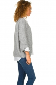 Knit-ted |  Knitted cardigan Bernelle | grey  | Picture 5