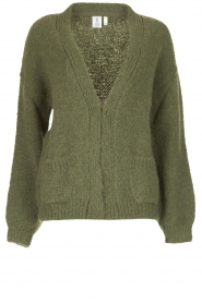 Knit-ted |  Knitted cardigan Bernelle | green  | Picture 1