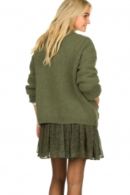 Knit-ted |  Knitted cardigan Bernelle | green  | Picture 5