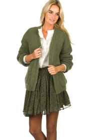 Knit-ted |  Knitted cardigan Bernelle | green  | Picture 4