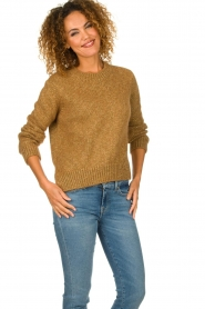 Knit-ted |  Sweater with lurex Banka | gold  | Picture 2