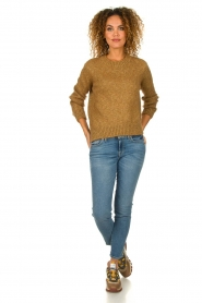 Knit-ted |  Sweater with lurex Banka | gold  | Picture 3