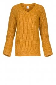 Knit-ted | Gebreide trui Balera | okergeel  | Afbeelding 1