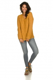 Knit-ted |  Knitted sweater Balera | ochre   | Picture 3