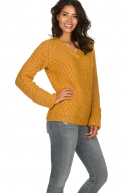 Knit-ted |  Knitted sweater Balera | ochre   | Picture 4