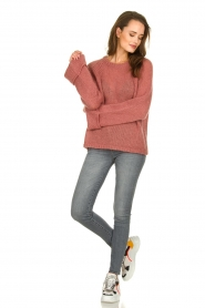 Knit-ted | Knitted sweater Becky | pink  | Picture 3