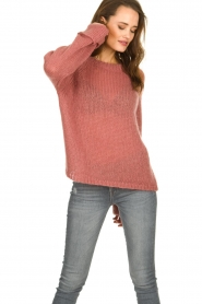 Knit-ted | Knitted sweater Becky | pink  | Picture 4