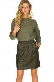 Knit-ted |  Sweater with subtle lurex details Sparkle | green  | Picture 2