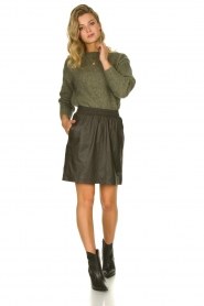 Knit-ted |  Sweater with subtle lurex details Sparkle | green  | Picture 3