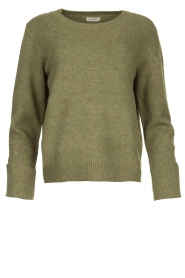 Knit-ted |  Sweater with subtle lurex details Sparkle | green  | Picture 1