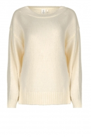 Knit-ted |  Sweater with subtle lurex details Sparkle | white  | Picture 1