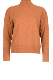 Knit-ted    Woolen turtleneck sweater Safira   brown    Picture 1