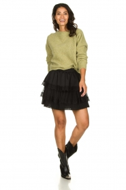 Knit-ted |  Knitted sweater Simra | green  | Picture 3