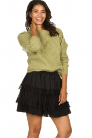 Knit-ted |  Knitted sweater Simra | green  | Picture 2