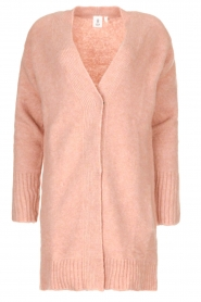Knit-ted |  Knitted cardigan Basile | pink  | Picture 1