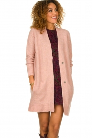 Knit-ted |  Knitted cardigan Basile | pink  | Picture 2
