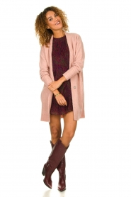 Knit-ted |  Knitted cardigan Basile | pink  | Picture 3