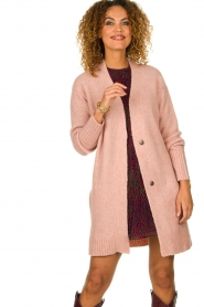 Knit-ted |  Knitted cardigan Basile | pink  | Picture 4