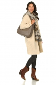 Knit-ted | Gebreid vest met knopen Babette | naturel  | Afbeelding 3
