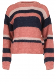 Knit-ted |  Striped sweater Billie | pink  | Picture 1