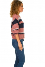 Knit-ted |  Striped sweater Billie | pink  | Picture 5