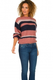 Knit-ted |  Striped sweater Billie | pink  | Picture 4