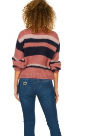 Knit-ted |  Striped sweater Billie | pink  | Picture 6