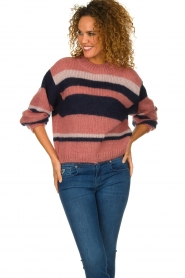 Knit-ted |  Striped sweater Billie | pink  | Picture 2