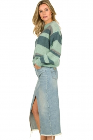 Knit-ted |  Striped sweater Billie | mint  | Picture 5