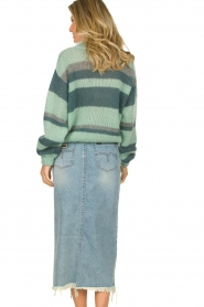 Knit-ted |  Striped sweater Billie | mint  | Picture 6