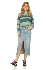 Knit-ted |  Striped sweater Billie | mint  | Picture 3